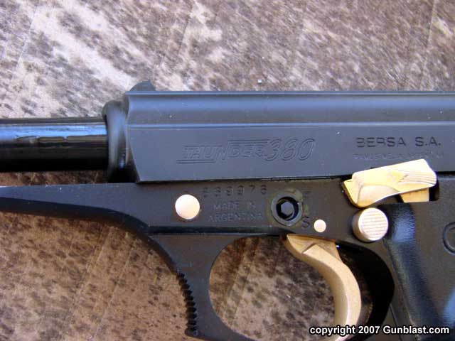 Bersa Thunder  380 Auto Pistol Revisited