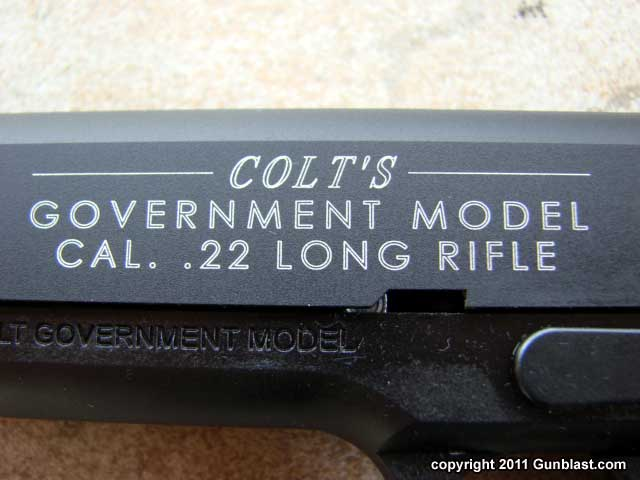 Colt Government Model 1911 22 Long Rifle Semi-Automatic Pistol from ...