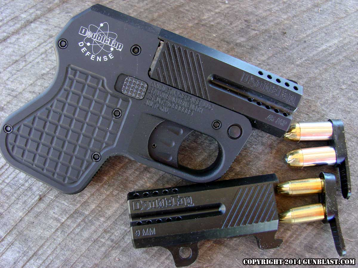 Two-Shot 45 ACP/9x19mm Convertible Derringer from DoubleTap Defense