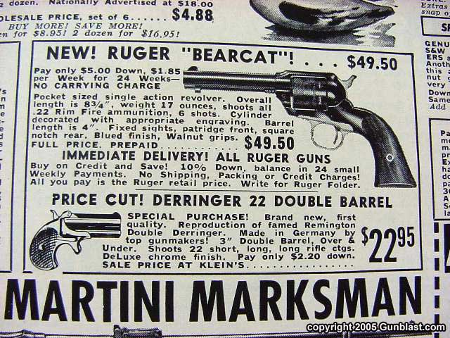 Image result for kleins mail order gun ads