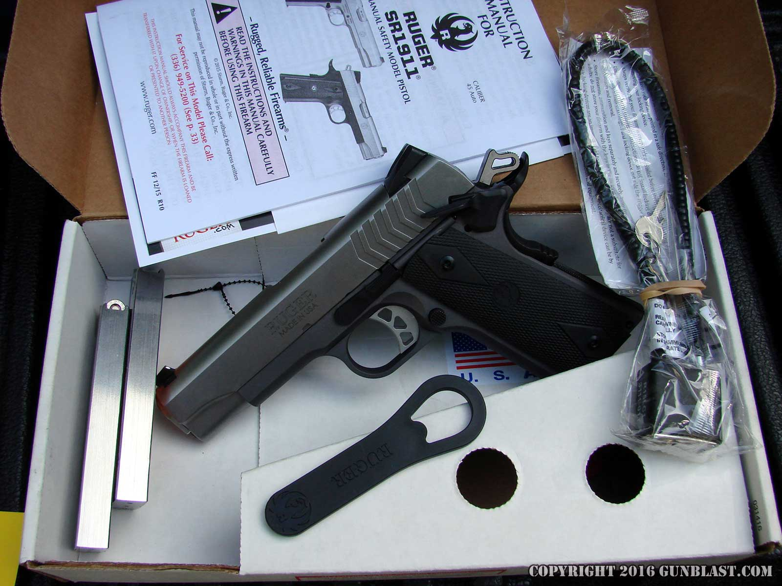 Ruger Lightweight 9x19mm SR1911 Semi-Automatic Pistol