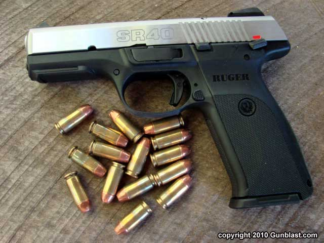 Ruger's Striker-Fired 40 Caliber SR40 Semi-Auto Pistol