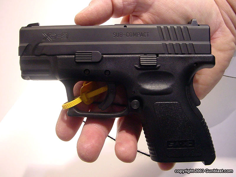 Springfield 9mm xd xd Sub-compact 9mm With 3