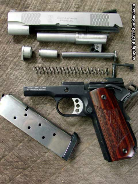 Smith wesson e series 45 acp sw1911 auto pistols disassembly is quick easy and requires no tools ccuart Gallery