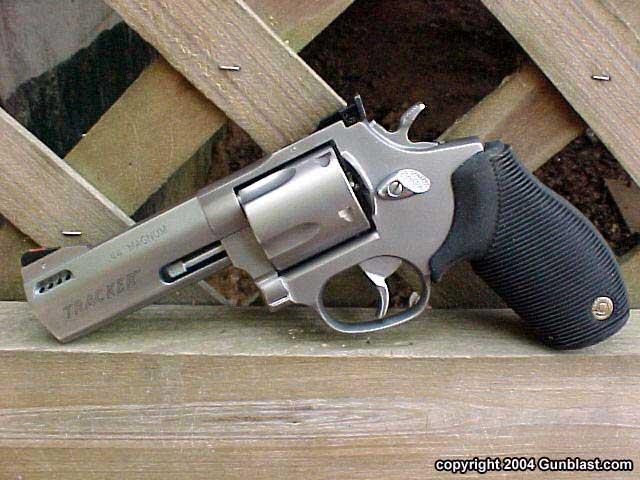 The Taurus Tracker .44 Magnum revolver.