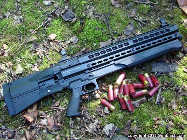 utas uts 15 twin tube 12 gauge bullpup pump action fighting shotgun. Black Bedroom Furniture Sets. Home Design Ideas